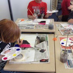 Kunstenaars in de klas