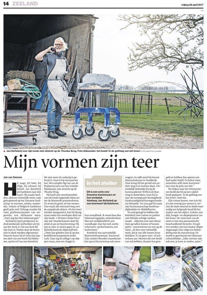 Jan Kettelerij beeldend kunstenaar Zeeland